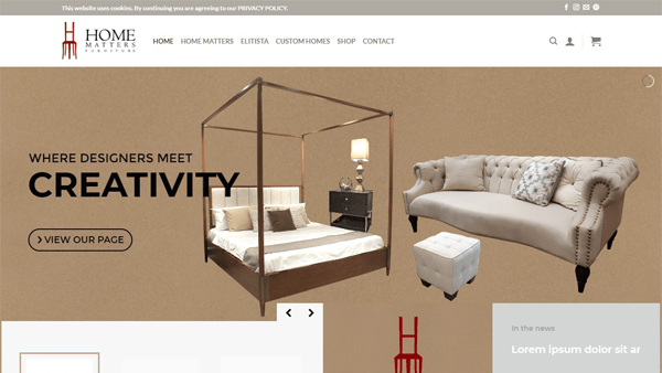 Website Design and Development Client - Home Matters