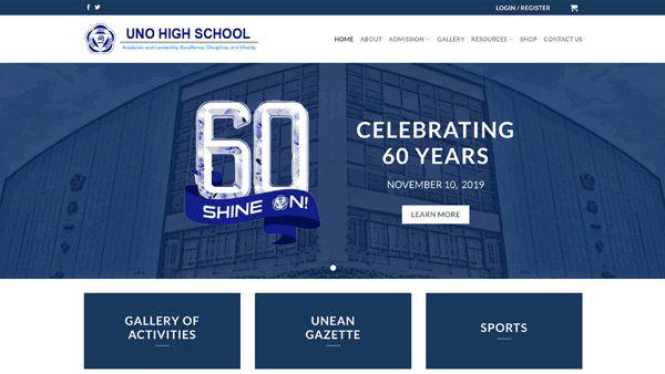 Website Design and Development Client - Uno High School