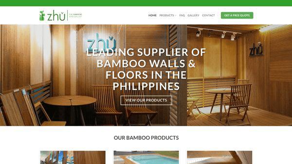 Website Design and Development Client - ZhuBamboo